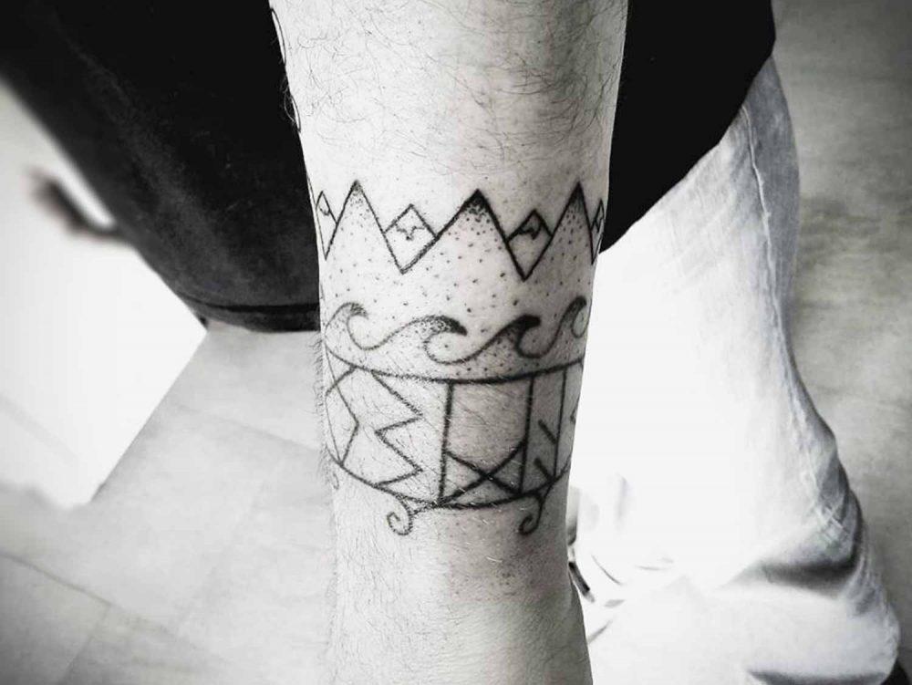 Indigenous Tattoo Bras Homme